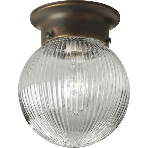 shop progress lighting glass globes 6 in w antique bronze