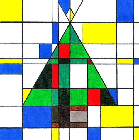 App For Floor Plans by Mondrian Style Christmas Tree Painting By E Gibbons