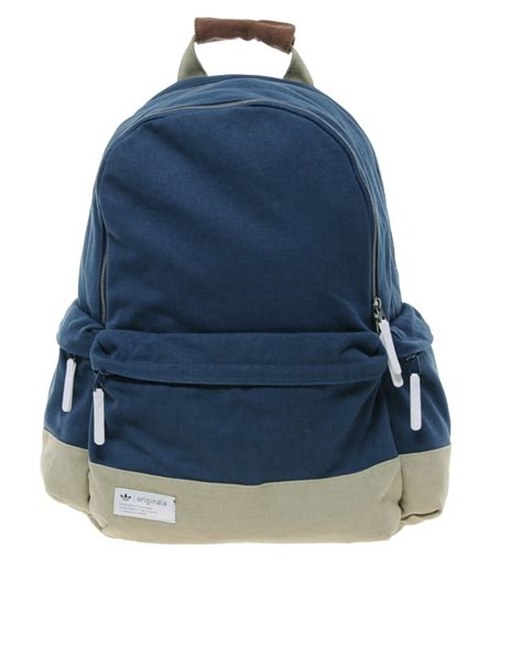 adidas backpack lyst adidas originals backpack in blue for men