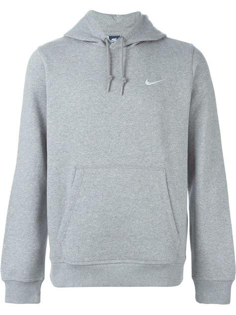 light grey nike hoodie nike hoody sweatshirt in gray for lyst