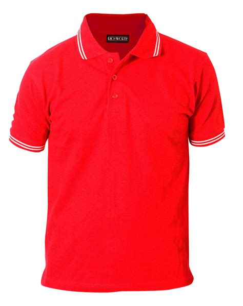 Watchout Casual T Shirt Merah with white tipping premium polo t shirt
