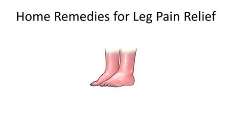 home remedies for leg relief knee relief from