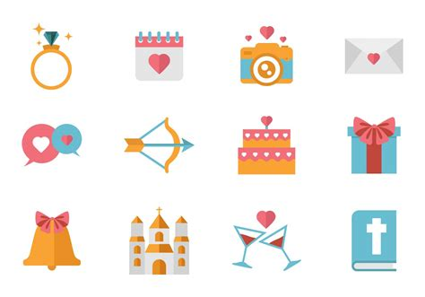 Wedding Vector by Free Wedding Icons Vector Free Vector