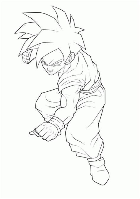 dragon ball z coloring pages pdf dragon ball z coloring pages gohan super saiyan 223086