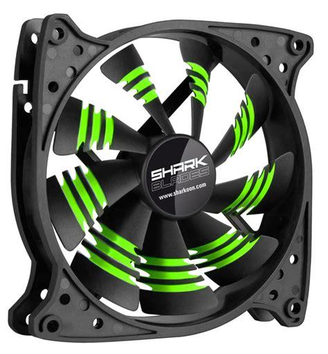pc fan sharkoon shark blade pc cooling fan green