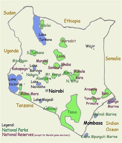 printable map kenya kenya tourist map i was on a 29 day safari where i went