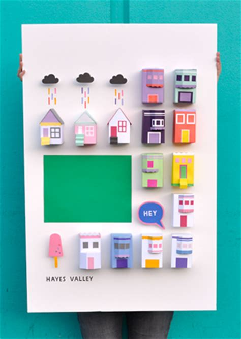 How To Make A Poster Out Of Paper - 3d city poster teaspoon studio