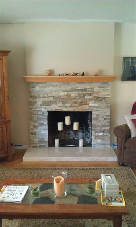 rustic fireplace renovation build with enns
