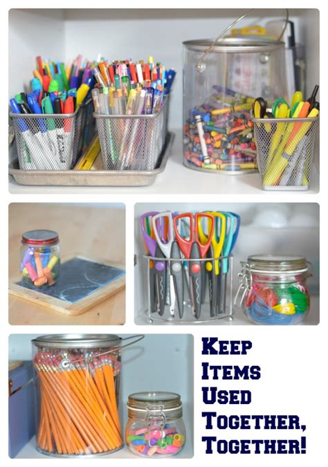 Desk Organization Supplies The Organized Homeschool Challenge And Craft Supplies Office Desk Supplies Supplies