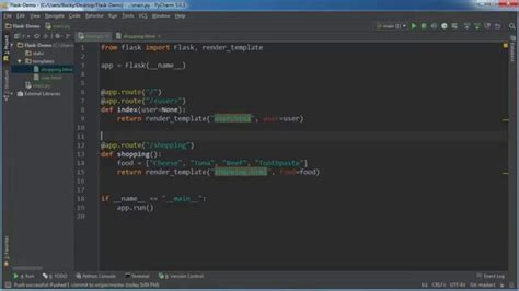 python tutorial youtube bucky flask web development with python tutorial 7 passing