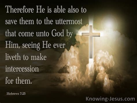 Jesus Saves To The Uttermost by Hebrews 7 25 Verse Of The Day