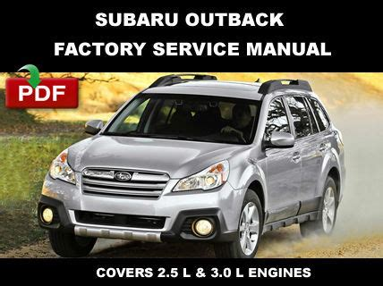 subaru outback 2010 2014 ultimate factory service repair factory prices for subaru outback
