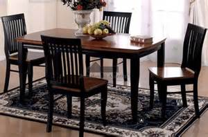 Black Kitchen Tables And Chairs Earlham I Antique Black Oak Table Chairs Wood Kitchen Table