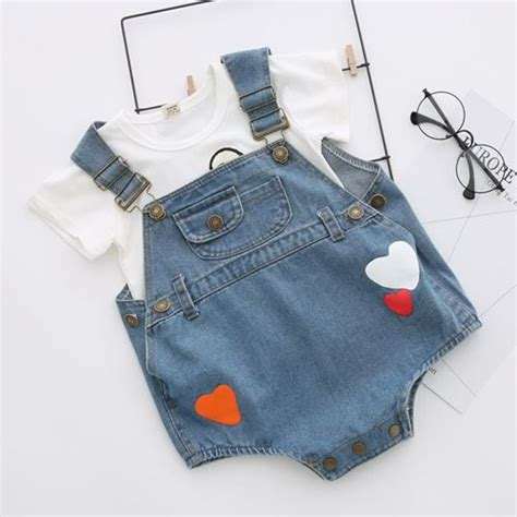 Preorder Romper Bayi Import High Quality 1 babykidzwear world trading high quality denim overall romper for baby