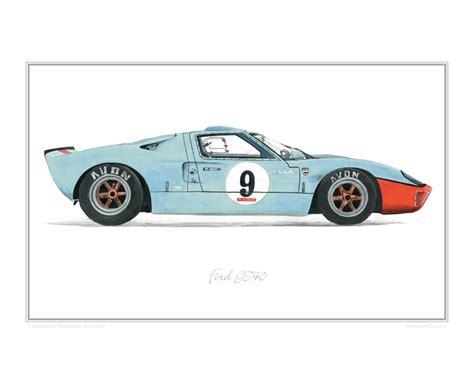 Home Blueprint ford gt40 car art print