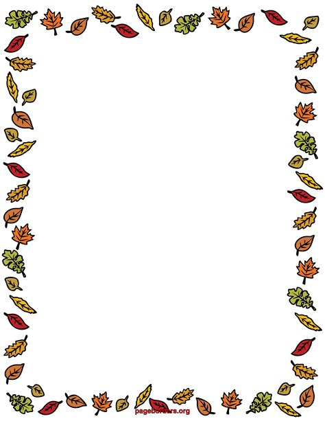 fall coloring page borders free coloring pages of autumn border ősz fall pinterest