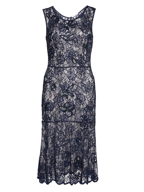 Beaded Lace Dress With Slip