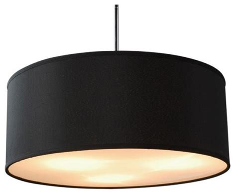Drum L Shade With Diffuser by Linen Drum Shade Acrylic Diffuser Pendant Black Modern