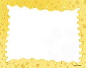 paw print powerpoint template free paw prints border backgrounds for powerpoint border
