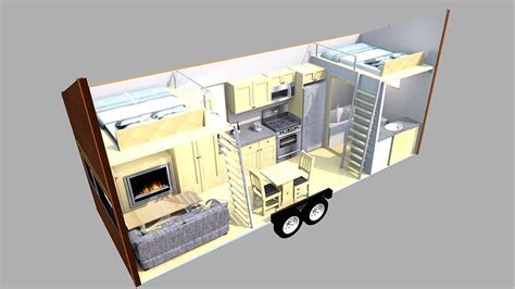 Cabin Blueprints Free by The Escape Traveler Is A Tiny House On Wheels Grindtv Com