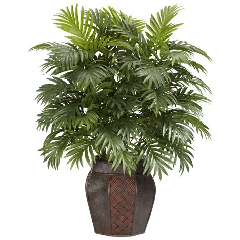 38 inch areca palm in vase 6651 nearly natural