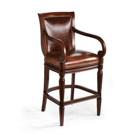 Frontgate Bar Stools by Leather Mahogany Bar Stool Frontgate