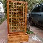 This House Privacy Planter by How To Build A Planter With Privacy Screen Diy Projects