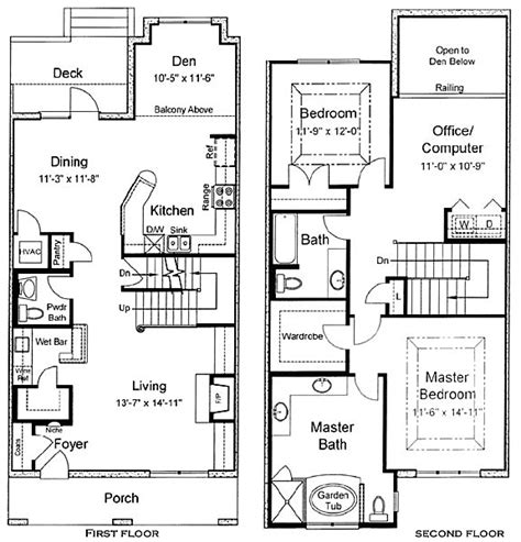 sle floor plans 2 story home berkman townhomes in downtown jacksonville florida