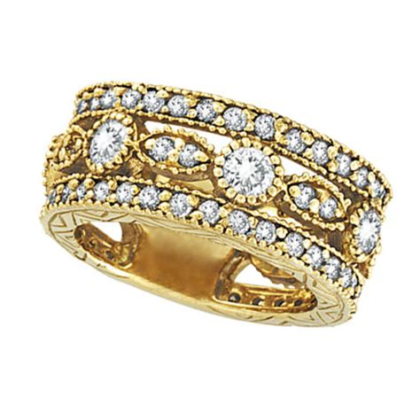 antique style eternity anniversary ring 18k yellow