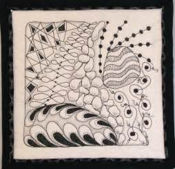 Zentangle Quilt Pattern | zentangle drawing and quilting mystery bay quilt design
