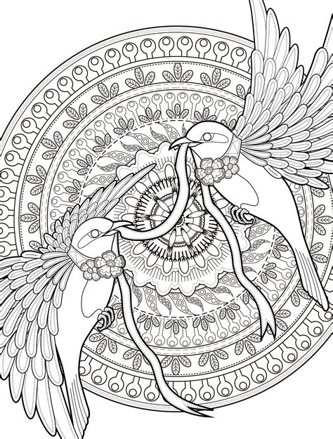 free printable for adults free printable 2 bird pictures to color for adults