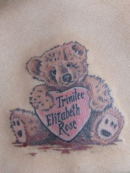 tatty teddy tattoo designs teddy tattoos teddy with baby s name in a