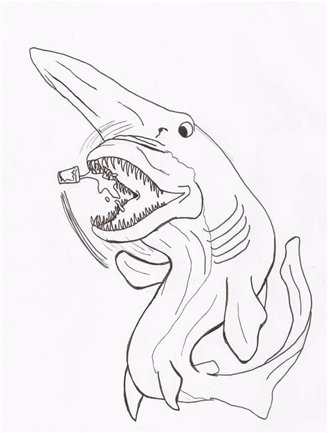 goblin shark coloring page goblin shark by rcwikkydartist on deviantart