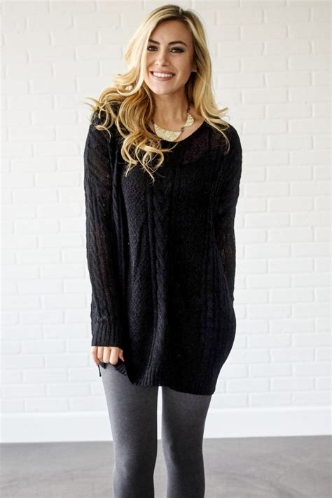 oversized cable knit sweater black cable knit oversized sweater