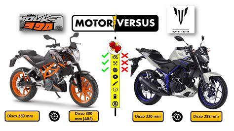 Ktm Vs Yamaha Ktm Duke 390 Vs Yamaha Mt 03