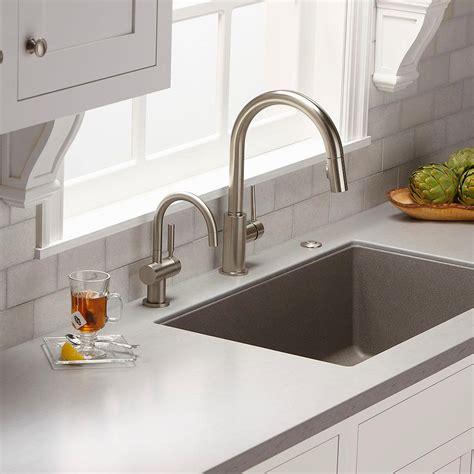 insinkerator  hcsn indulge modern instant hot  cold water dispenser satin nickel