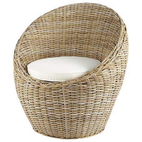 fauteuil cocoon fauteuil tress 233 en rotin kubu cocoon maisons du monde