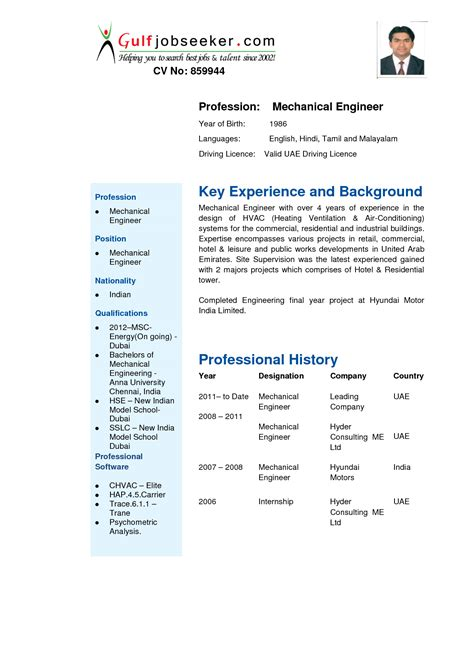 Resume For Engineers In Mechanical by Resume For Mechanical Engineer 2018