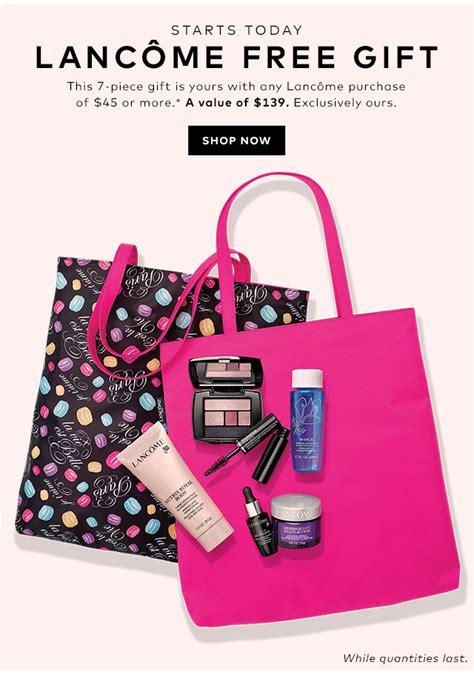 Gwp Alert Luxe Freebies From Eluxury by Hudson S Bay Lancome Bonus Gift Time