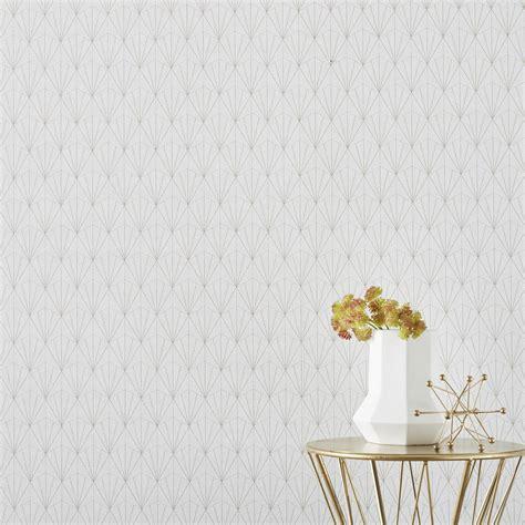 Tapisserie Et Blanche by Papier Peint Intiss 233 Geo D Blanc Leroy Merlin