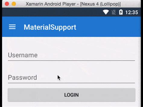 android label beautiful material design with the android support design library xamarin