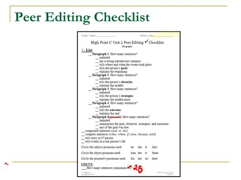 business letter peer editing checklist business letter peer editing checklist 28 images