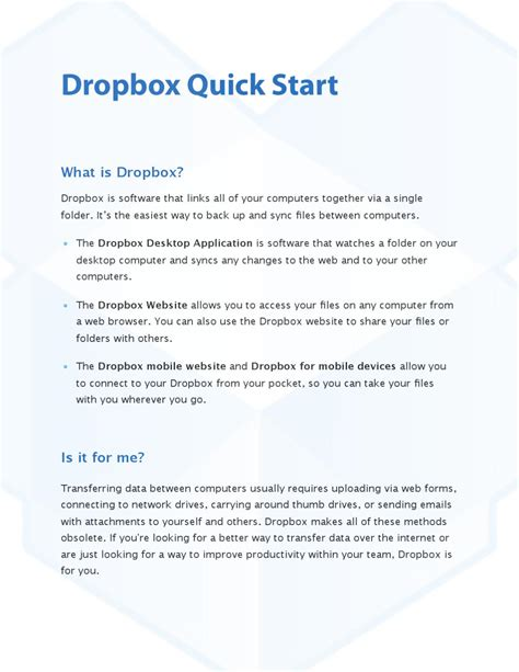 dropbox quick start dropbox getting started by jonathan johnson issuu
