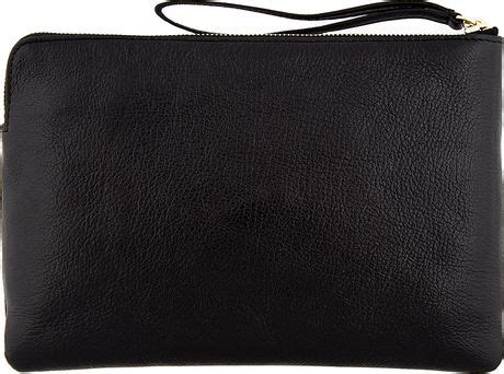 Marc Fergi Studded Leather Clutch by Marc Black Leather Red Studded The Deluxe Clutch In