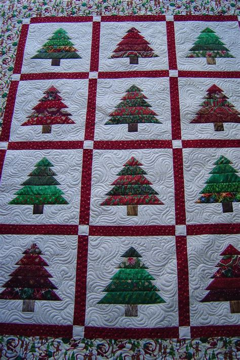 christmas tree pattern patchwork christmas quilt idea trees quilting inspiration