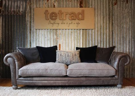 tetrad mixed leather  fabric sofas leather living