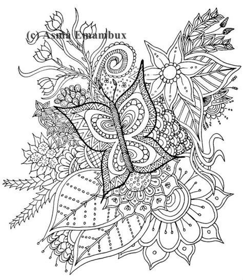 butterfly doodle coloring pages butterfly doodle coloring page