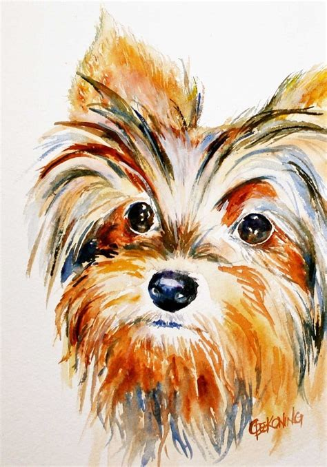 yorkie painting yorkie aceo painting giclee reproduction breeds picture