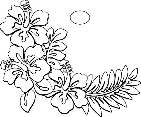 Hawaiian Flowers Coloring Pages hawaiian flowers coloring page coloring home