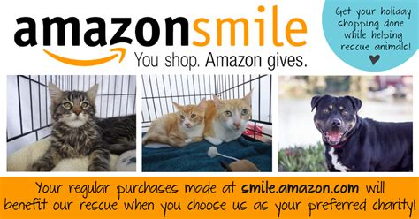 Amazon Smile Gift Card - adopt a dog or cat from home at last animal rescue